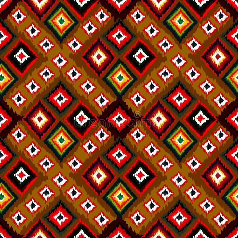 无缝的传染媒介部族背景 多彩多姿的背景 库存例证