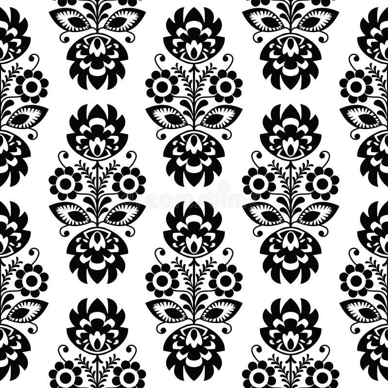 无缝的传统花卉波兰样式-种族背景 库存例证