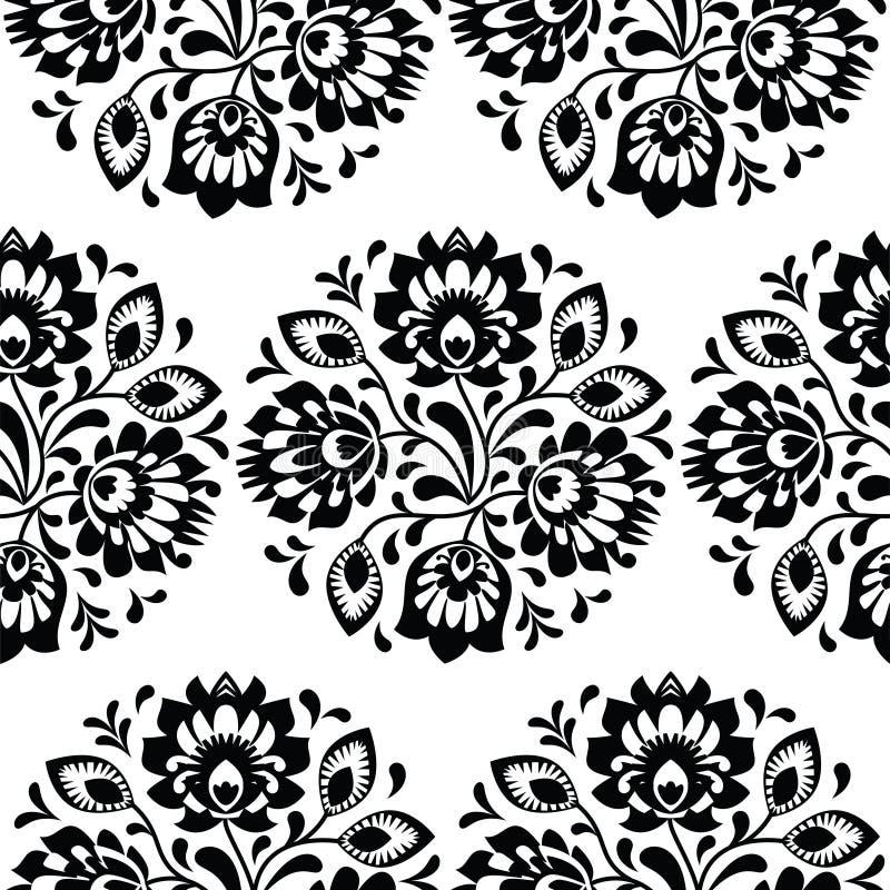 无缝的传统花卉波兰样式-种族背景 皇族释放例证