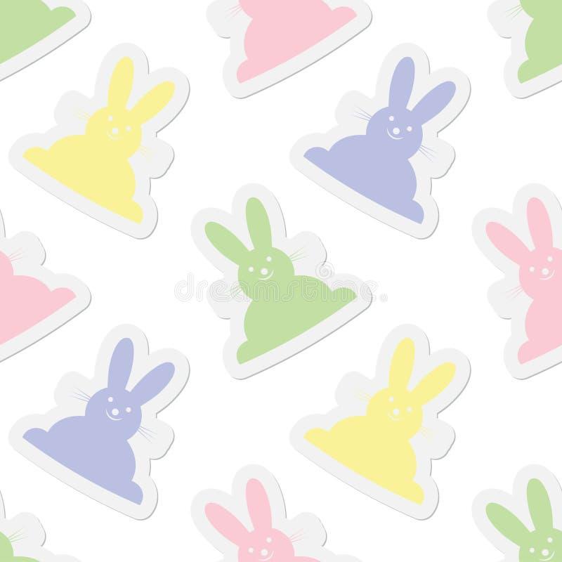 无缝的例证,淡色兔宝宝 向量例证
