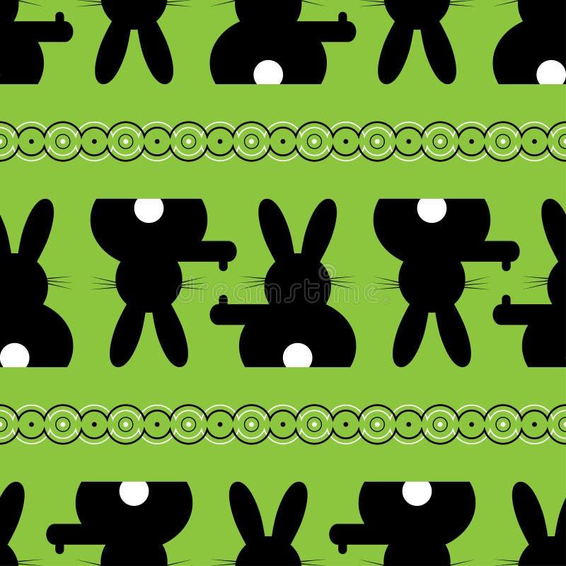 无缝的例证-复活节兔子背景 皇族释放例证