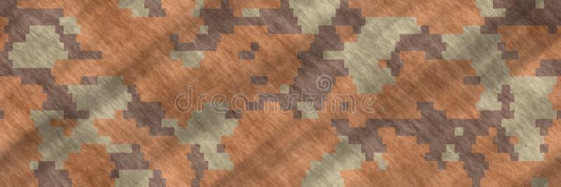 无缝的例证 纺织品伪装样式摘要 库存例证