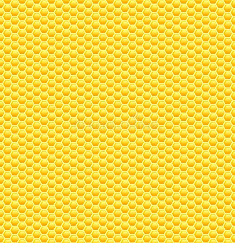 无缝的光滑的黄色蜂窝样式 皇族释放例证