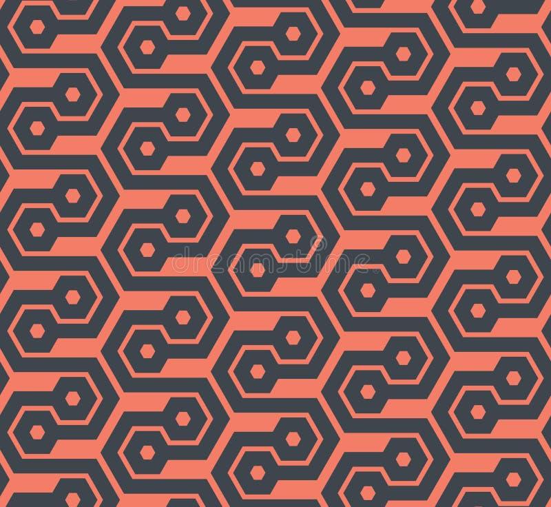 无缝的六角几何样式-传染媒介eps8 向量例证