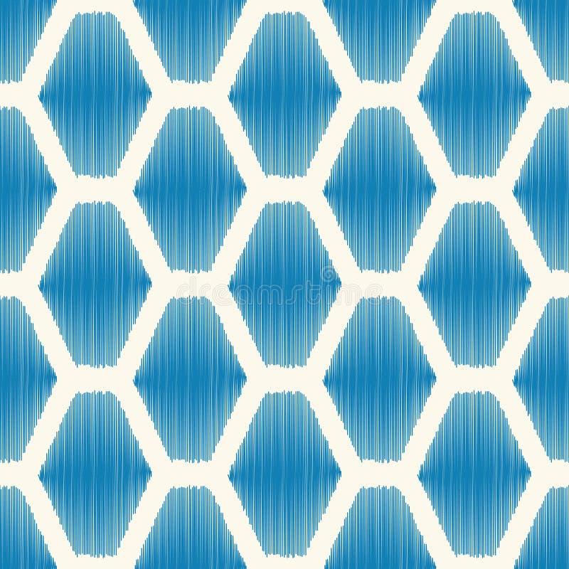 无缝的六角几何瓦片背景 库存例证
