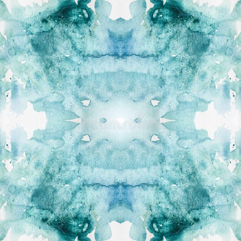 无缝的典雅的水彩几何样式 摘要颜色万花筒背景 皇族释放例证