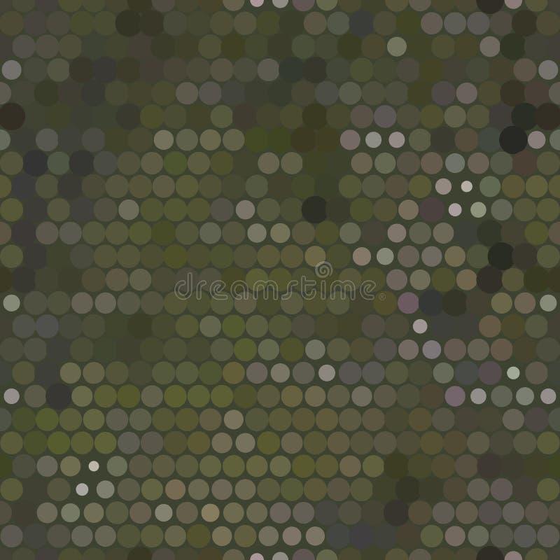 无缝的军事小点背景 免版税库存照片