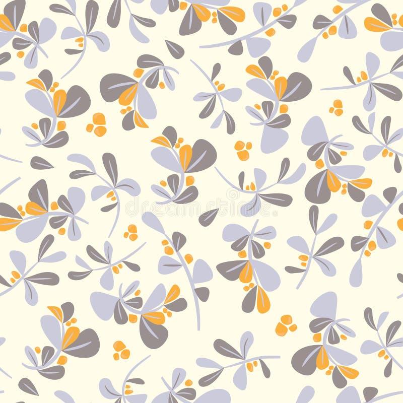 无缝的冬天花卉样式 平的传染媒介圣诞节背景 向量例证