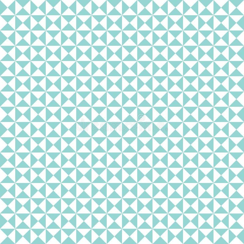 无缝的几何三角样式背景 向量例证