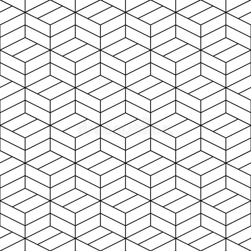 无缝的几何传染媒介样式艺术设计 向量例证