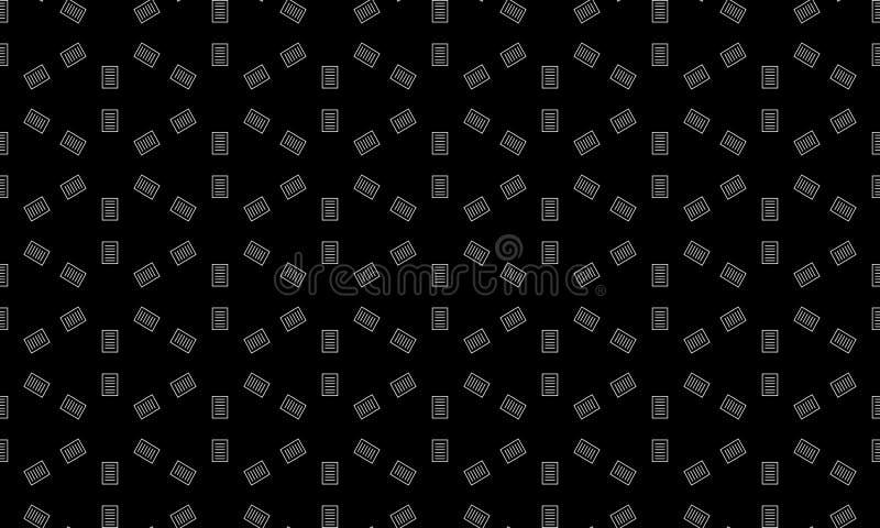 无缝的几何传染媒介背景,简单的黑白条纹传染媒介样式,准确,编辑可能和有用的背景为 向量例证