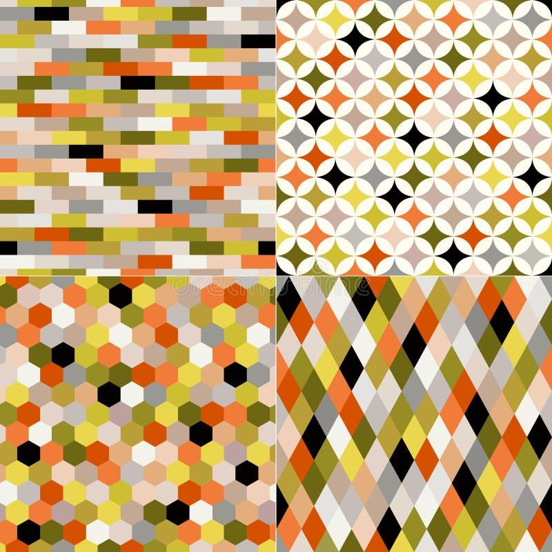 无缝的几何多色样式 皇族释放例证