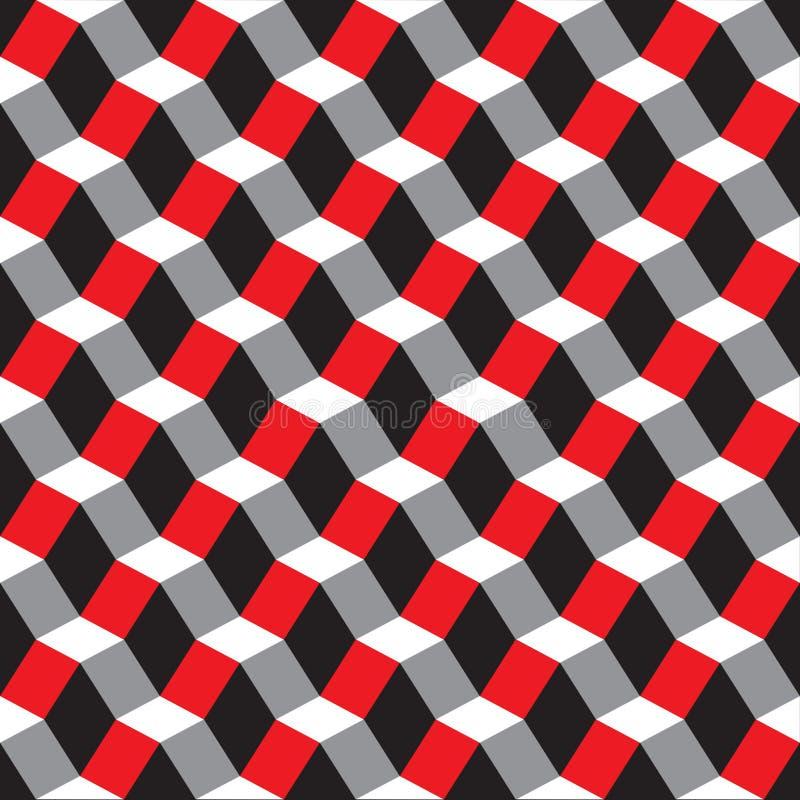 无缝的几何摘要雕琢平面的3d样式背景 向量例证