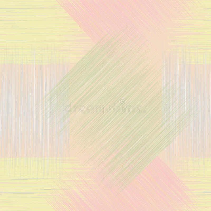 无缝的几何方格的难看的东西镶边的啪答声 皇族释放例证