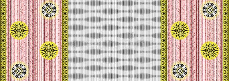 无缝的几何条纹样式有装饰品背景 向量例证