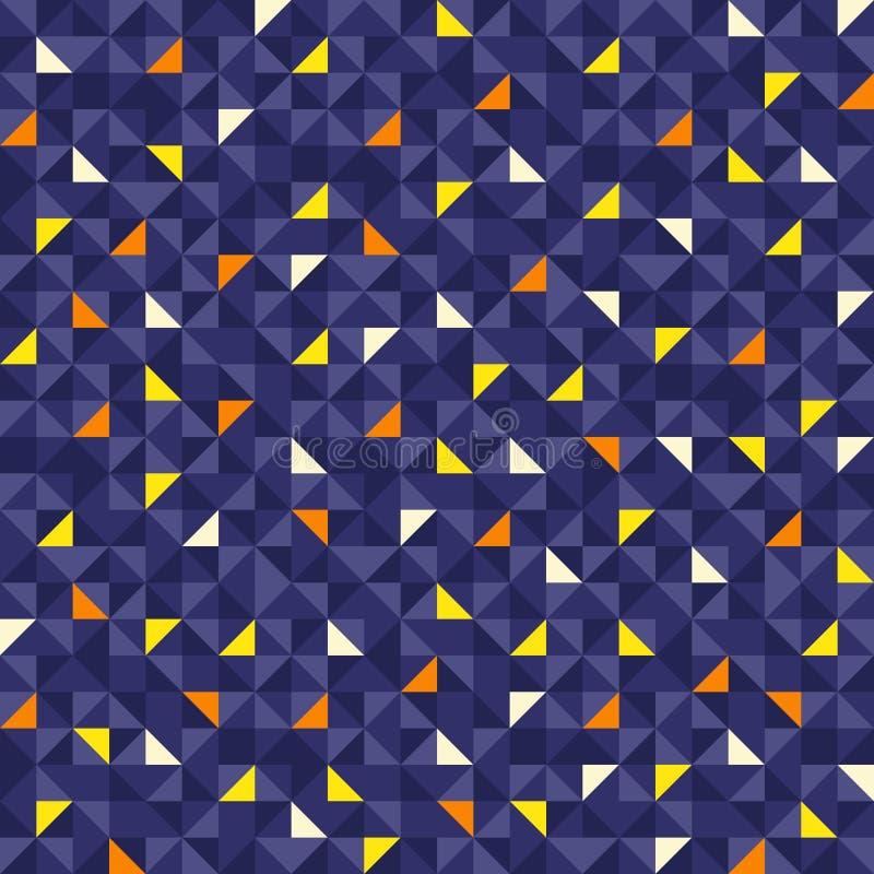 无缝的几何样式圣诞节 免版税库存图片