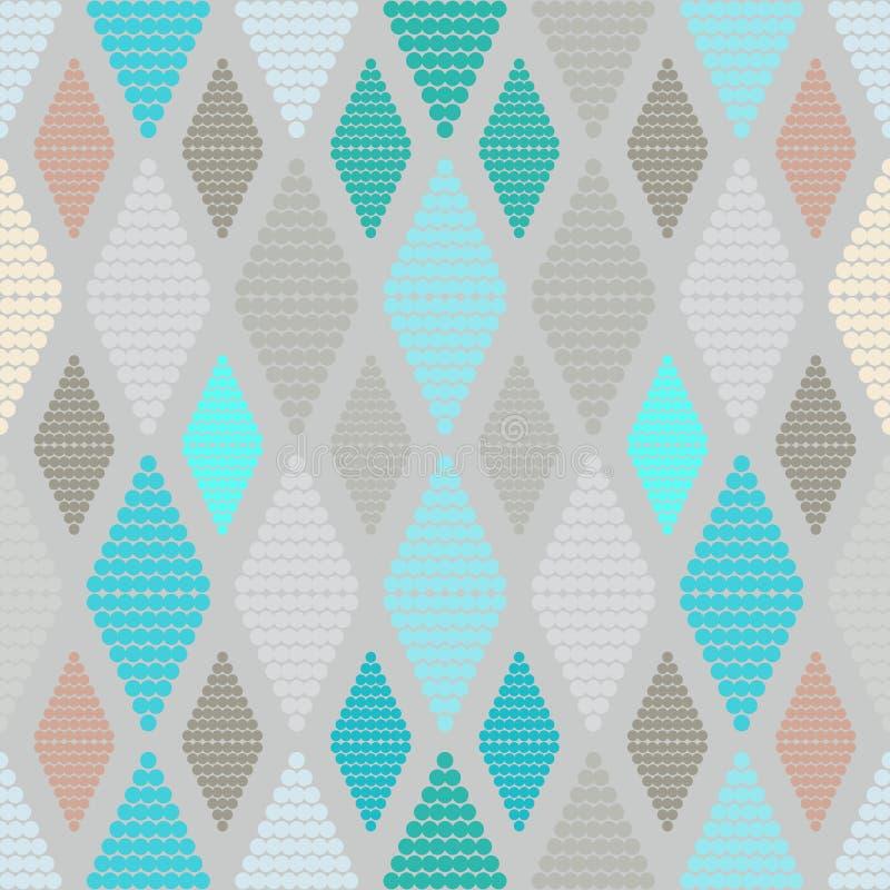 无缝的几何样式小点 库存例证