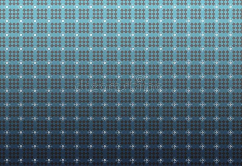 无缝的几何正方形和圈子样式 皇族释放例证