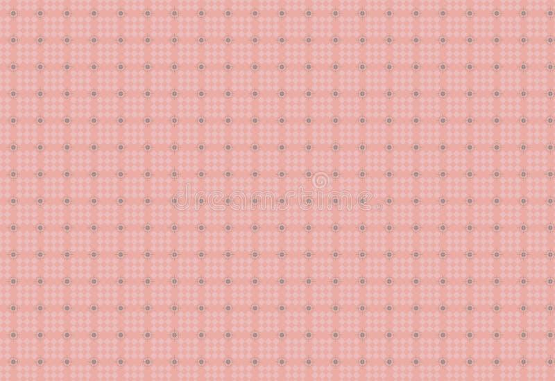 无缝的几何正方形和圈子样式 库存例证