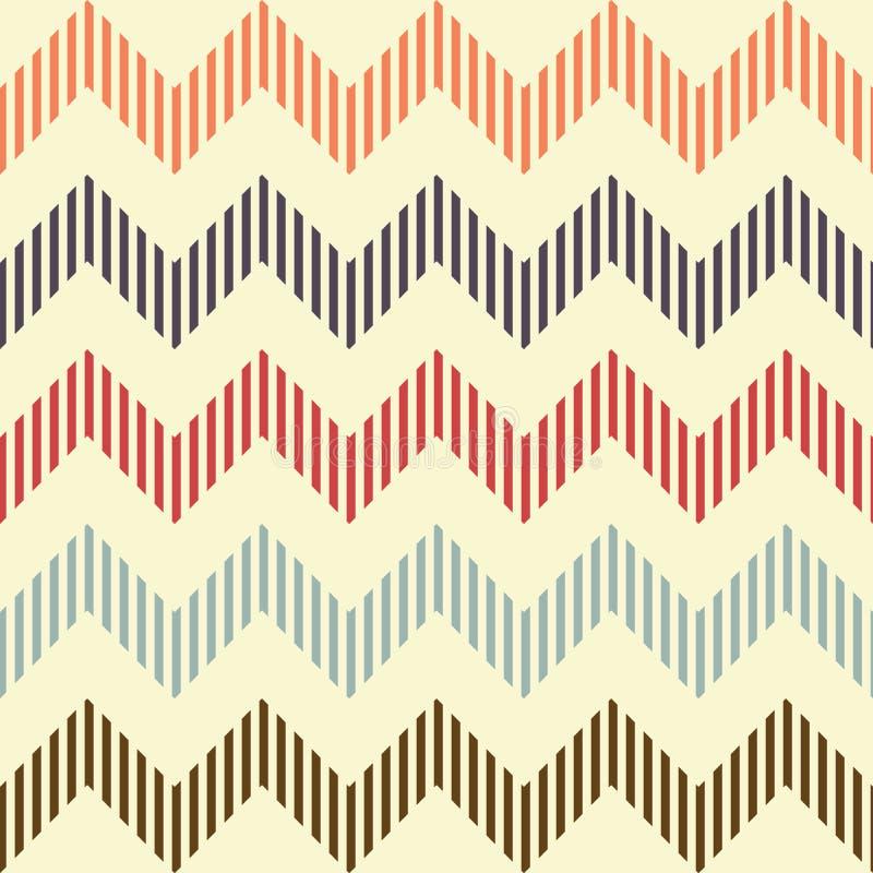 无缝的几何波浪样式 库存例证