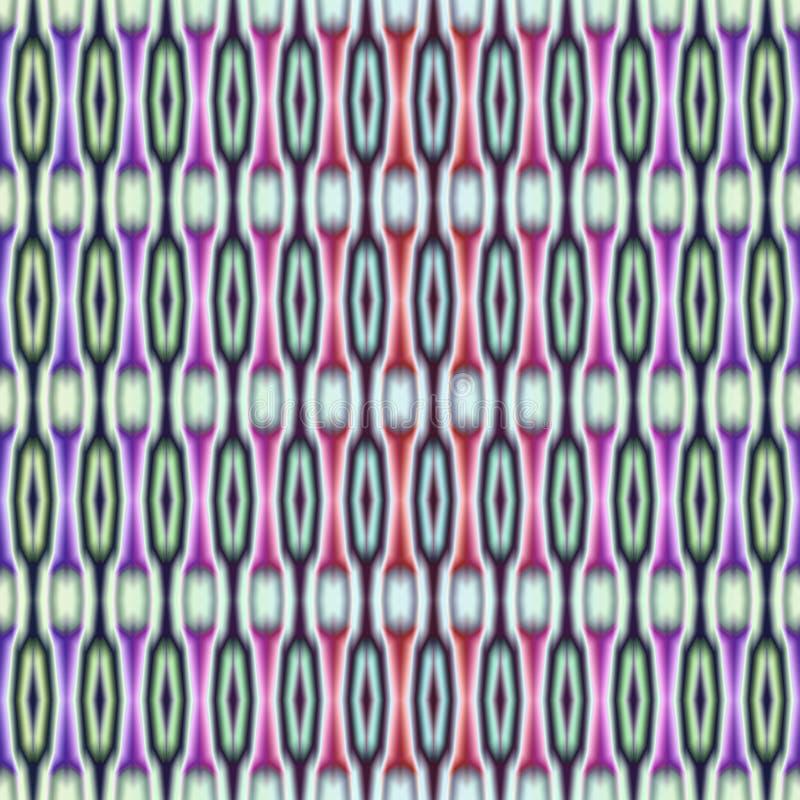 无缝的几何种族样式 装饰垂直条纹 向量例证