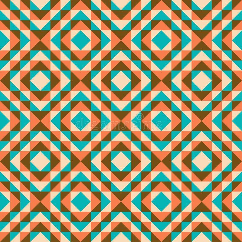 无缝的几何背景 向量例证