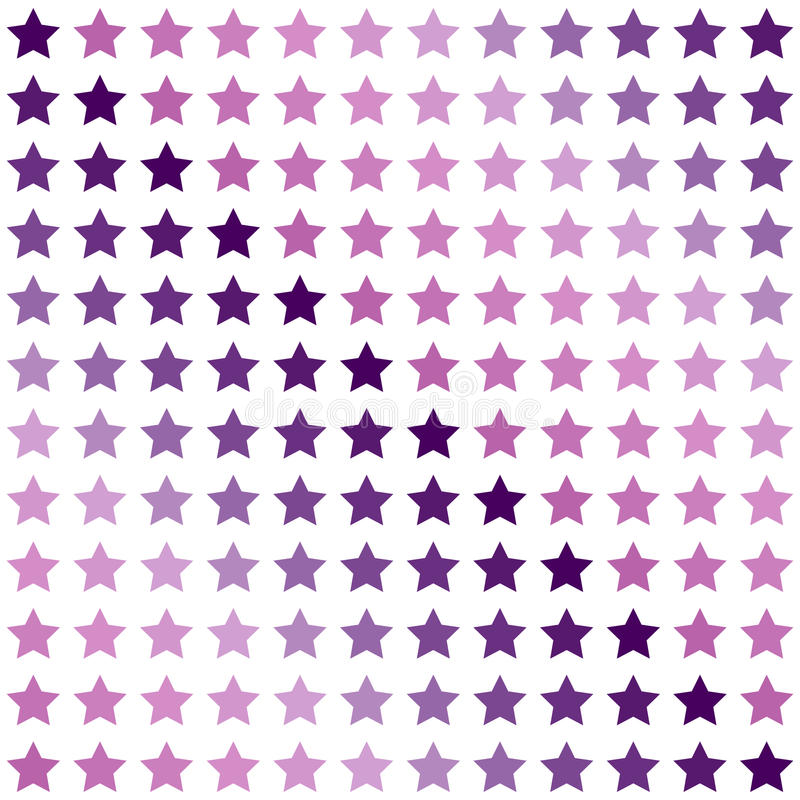 无缝的几何色的样式 打印与紫罗兰色,紫色和桃红色星在白色背景 向量例证