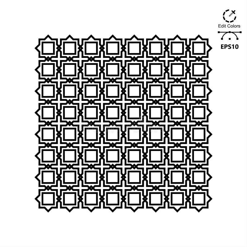 无缝的几何装饰传染媒介样式 库存例证