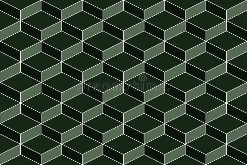 无缝的几何绿色纹理 向量例证