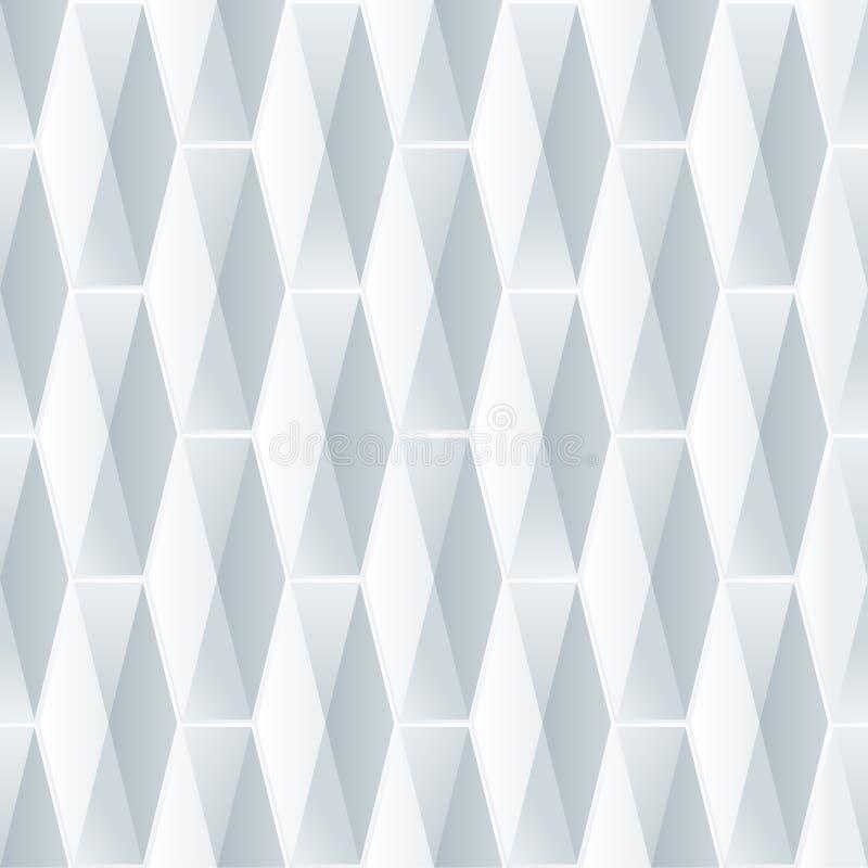 无缝的几何3d样式 库存例证