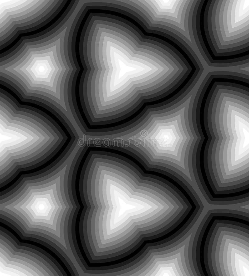 无缝的单色波浪条纹样式 几何抽象的背景 适用于纺织品,织品和包装 向量例证