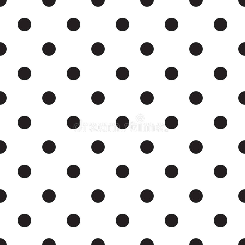 无缝的圆点样式背景 在白色背景的黑小点 皇族释放例证