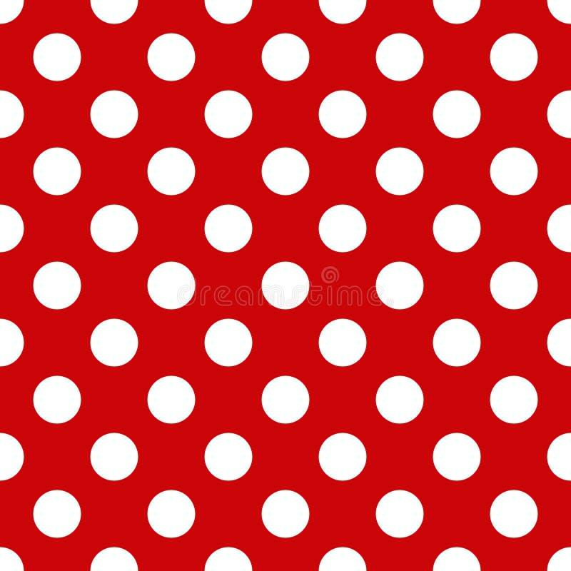 无缝的圆点花样的布料模式 向量例证