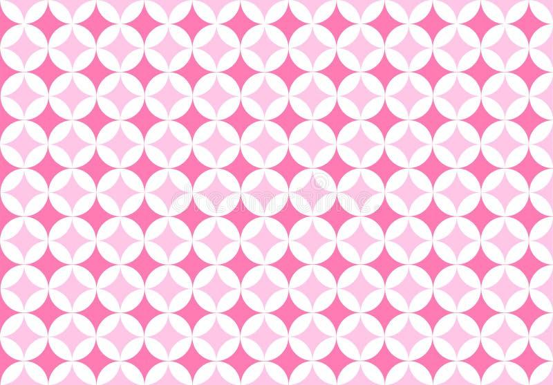 无缝的圈子在桃红色背景中仿造 免版税库存图片