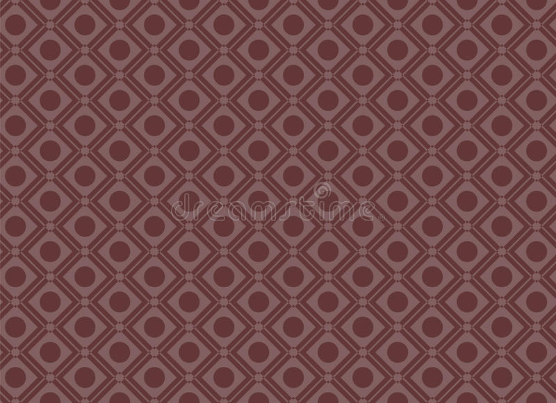 无缝的圈子正方形几何样式红色 皇族释放例证