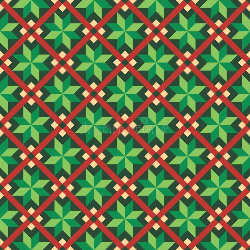 无缝的圣诞节包装纸样式 向量例证