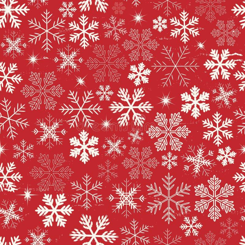 无缝的圣诞节雪花背景 皇族释放例证