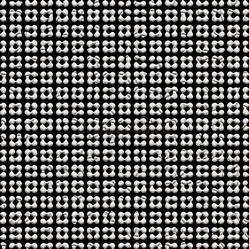 无缝的在黑背景的摘要现代灰色纹理 向量例证