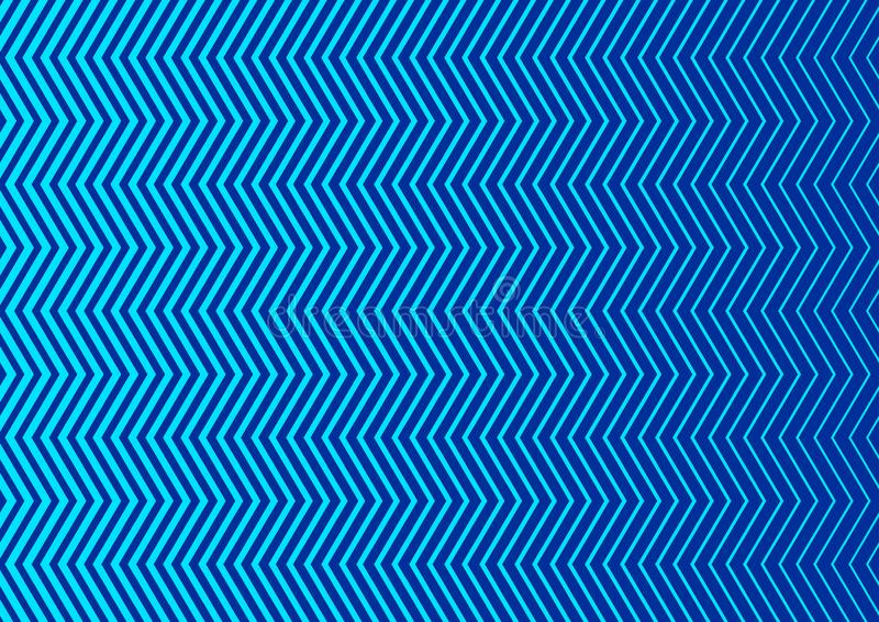 无缝的垂直的蓝色之字形条纹构造背景 皇族释放例证