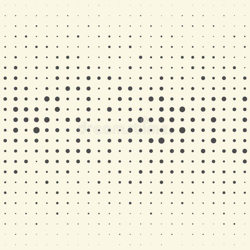 无缝的垂直条纹和光点图形 传染媒介黑白照片后面 皇族释放例证