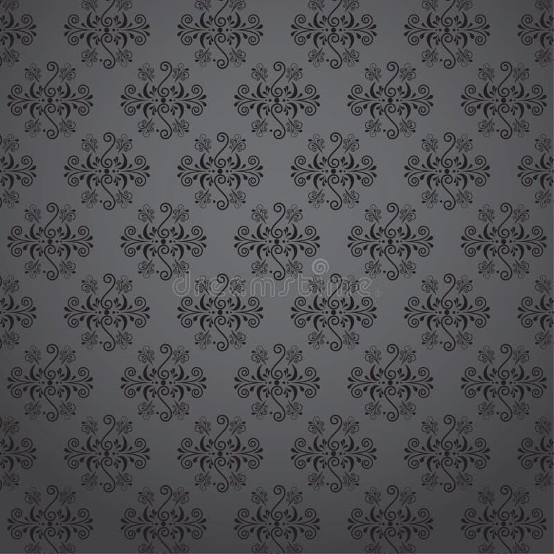 无缝的墙纸样式-例证 免版税库存图片