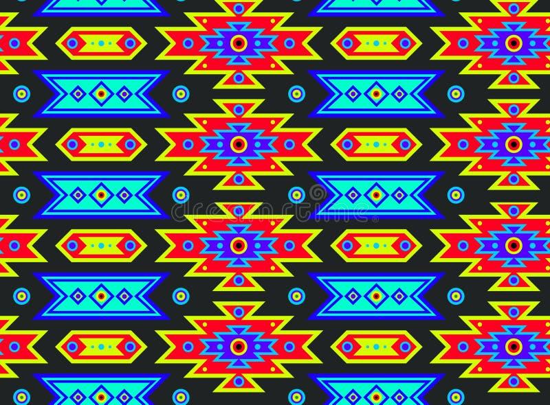 无缝的墨西哥荧光的模式 库存例证