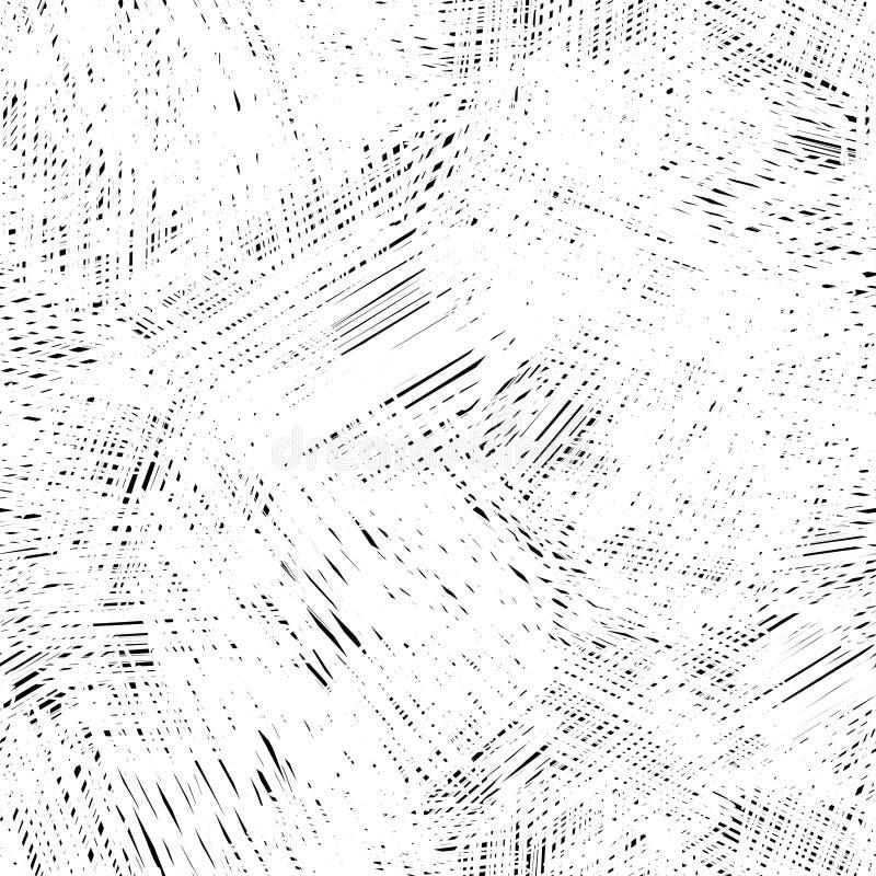 无缝的墨水手拉的杂文纹理,抽象图形设计 库存例证