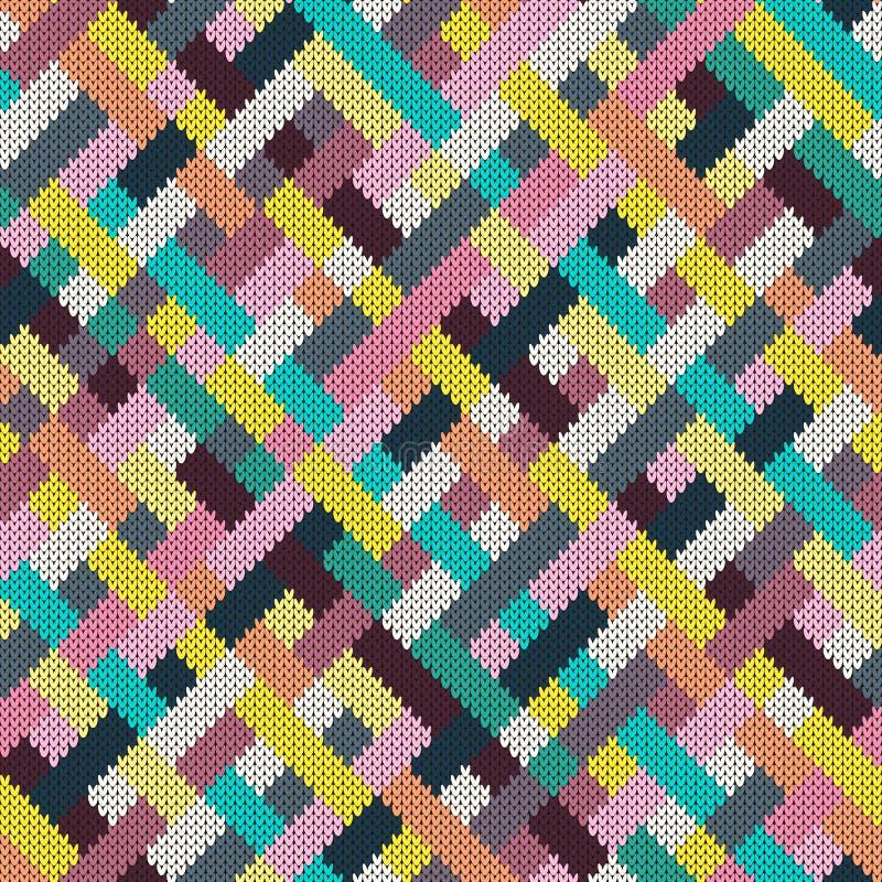 无缝的多彩多姿的被编织的样式 皇族释放例证