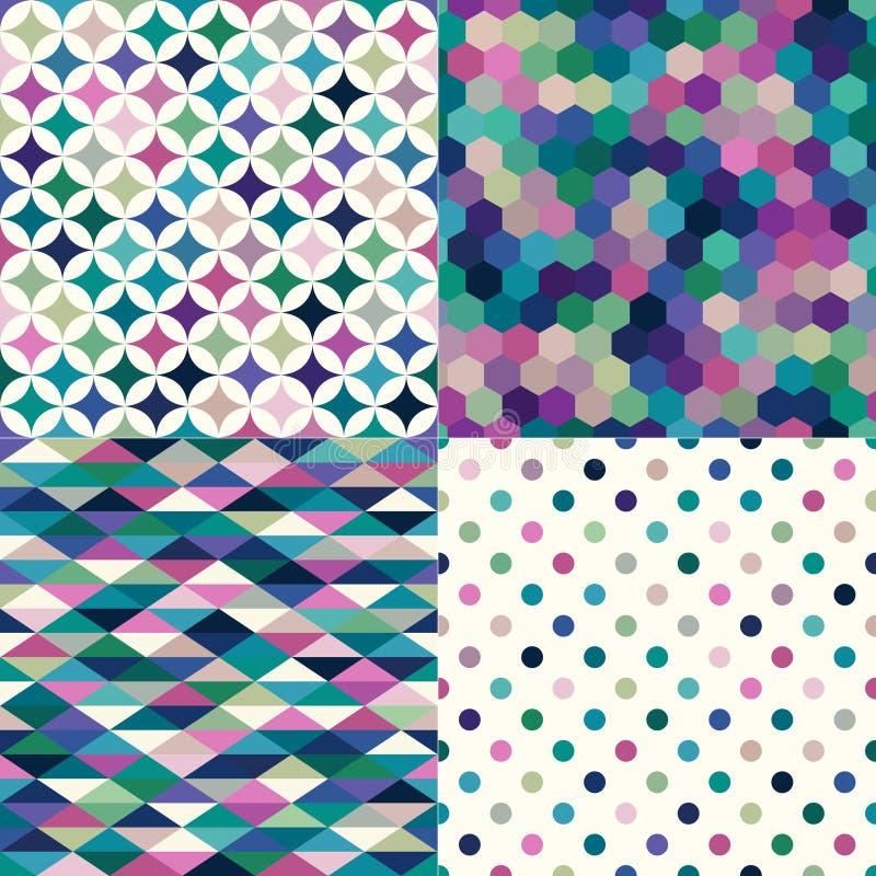 无缝的多色几何样式 皇族释放例证