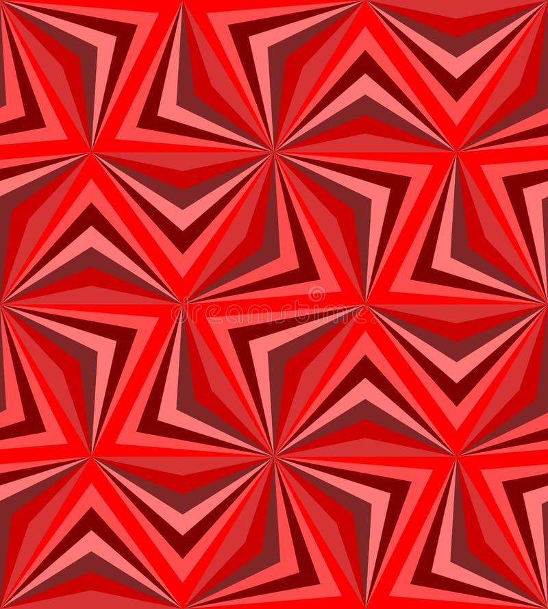 无缝的多角形红色样式 几何抽象的背景 皇族释放例证