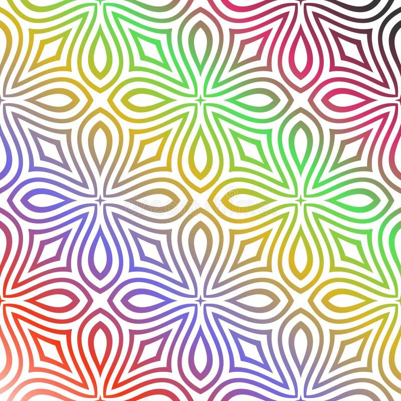 无缝的多颜色样式 向量例证