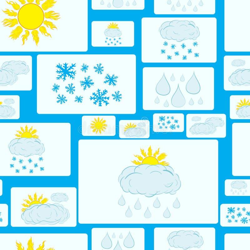 无缝的天气标志 库存例证