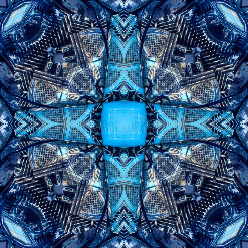 无缝的对称样式摘要难看的东西石元素纹理 图库摄影