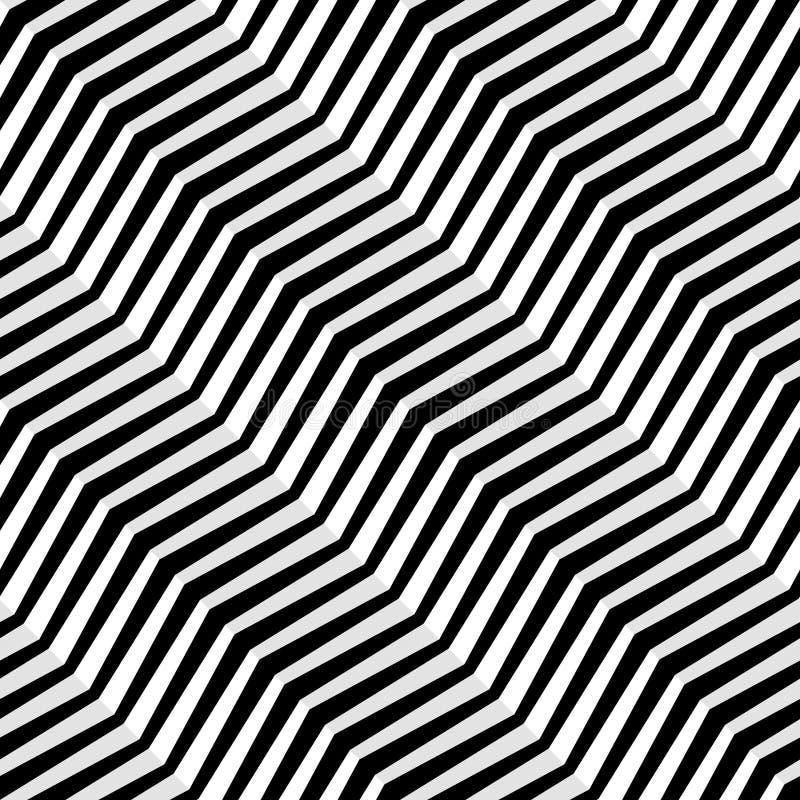 无缝的对角线传染媒介样式 抽象几何模式 波浪的背景 皇族释放例证